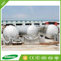 Environmental automatic waste tire rubber recycling pyrolysis plastic oil distillation to diesel gasoline