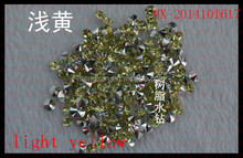 New Product ss38 light yellow Pointback Resin Chaton Rhinestones