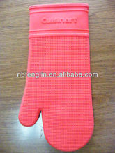 cotton fabric lineing oven silicone gloves