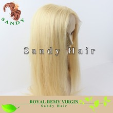 Cheap Blonde Full Lace Straight Virgin European Human Hair Full Lace Wigs With Baby Hair