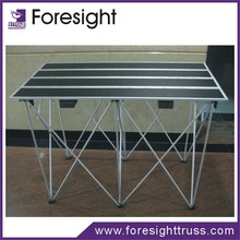 Foresight wedding stage crystal pillars acrylic stage