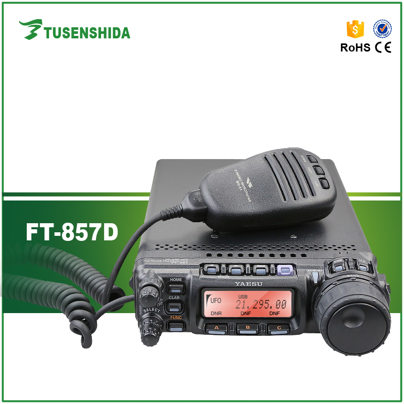 FT-857D Long Range Car Radio Walkie Talkie 15-30KM HF Radio Transceiver