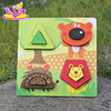 2017 New product baby 3D diy wooden puzzle board W14D024