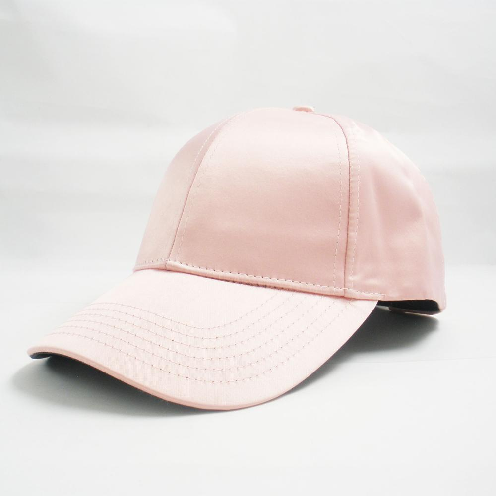 High Quality Blank 6 Panel Satin Lined Baseball Cap Dad Hat