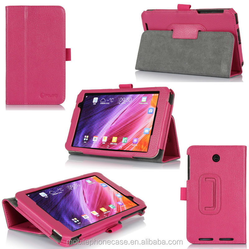 Alibaba Express Brand New Flip Leather Tablet Case with Stylus holder for Asus Me 176 cx