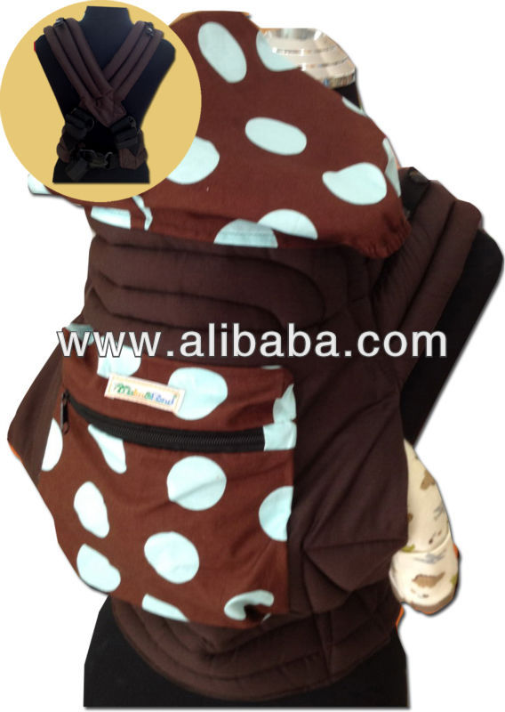 Mei Tai Baby Sling/Carrier with Hood/Buckle/Pocket