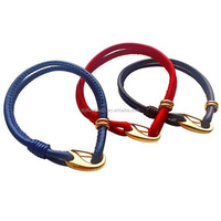 3mm Genuine leather cord bracelet with stainless steel lobster clasp/colorful sheepskin cord with titanium shrimp spigot