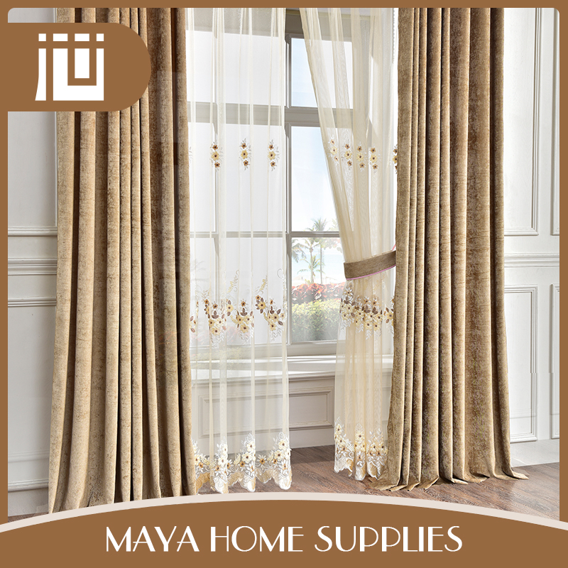 Good quality different design eco-friendly imported home goods organza curtains