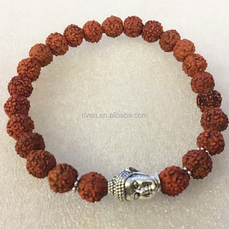 SN0854 Rudraksha beads Buddha Wrist Mala Healing Bracelet For men Blessed and Energized with Hindu Vedic Mantras Jewelry