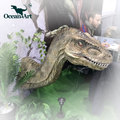 OA3835 Lifelike Realistic Animatronic Dinosaur Head For Dino themed Park