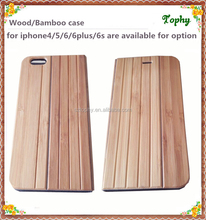 popular universal smart phone wallet book style bamboo wood flip leather case for iphone5/5s/6/6s/6plus
