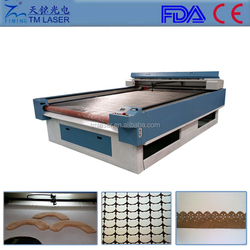 1600*2500 big size & fast speed co2 cutting engraving machine with conveyor table