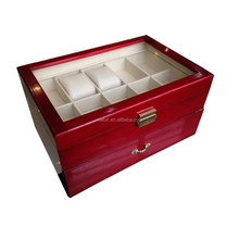 2015 High Glossy Red Wooden Watch Display Box