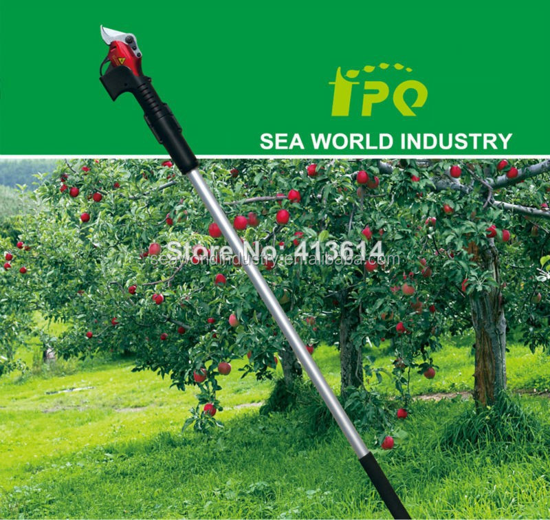 CE Electric extension pole pruning shear with 8 hours working time