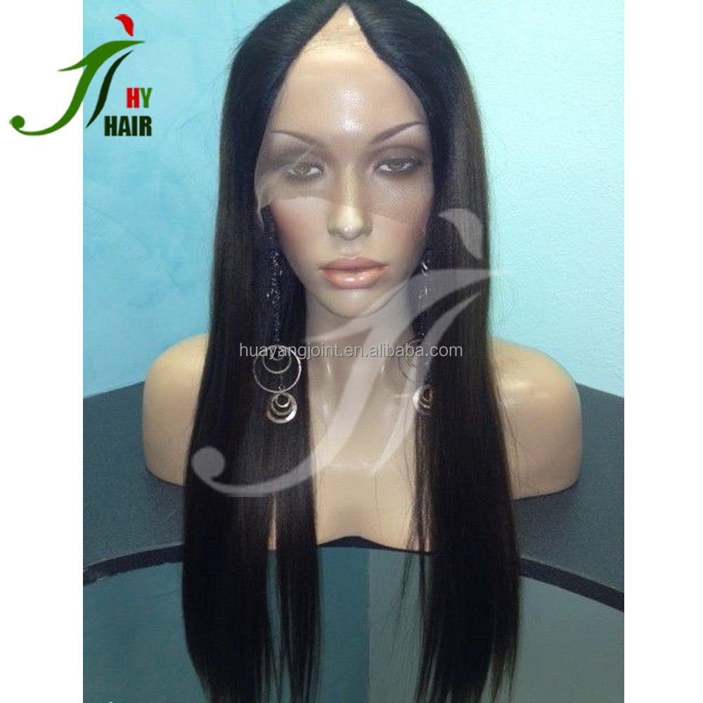 Cheap Price Indian Remy Hair U Part Wig Silky Straight Glueless Human Hair V Part Machine Made Wig