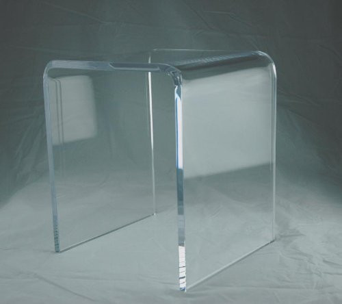 "3/4"" Clear Acrylic Lucite Perspex Shower Bench"