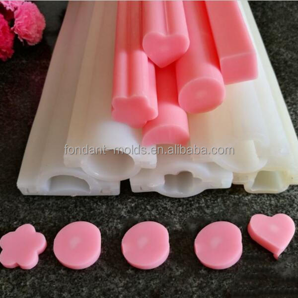 New arrival cheap 6 kinds long silicone tube molds pipe molds