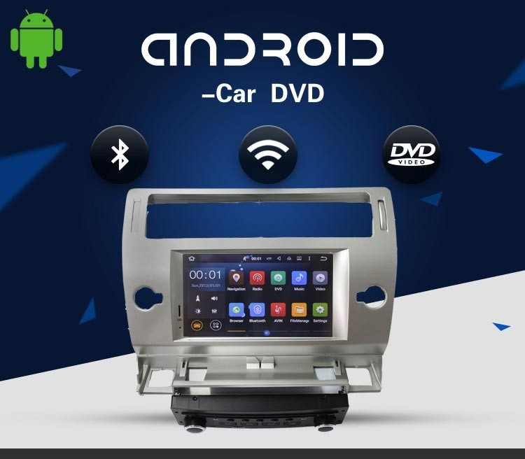 touch screen android car dvd player gps navigation car radio for citroen c4 with 3g wifi steering wheel control