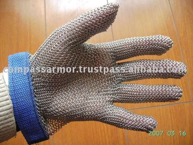 stainless steel wire mesh cut resistant gloves safety gloves cut and slash resistant gloves