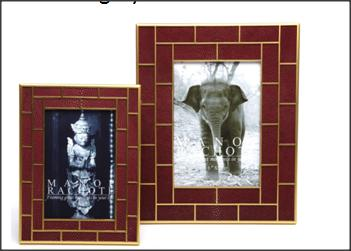 Burgundy Frames-Stingray Brickwork Gold Plated