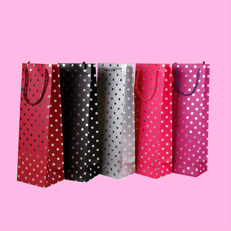 Mi024 Fashion Show Paper Send Gift Bags With Handle Wholesale