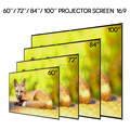 60inch portable foldable projector screen with matte 16:9 apsect ratio