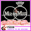 "Hot sale silver crystal diamond crown ""Mr & Mrs"" rhinestone cake topper for wedding centerpieces"