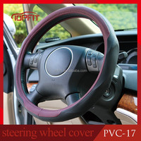 Soft and Anti Slip PVC Leather Steering Wheel Cover for Cars Automobile