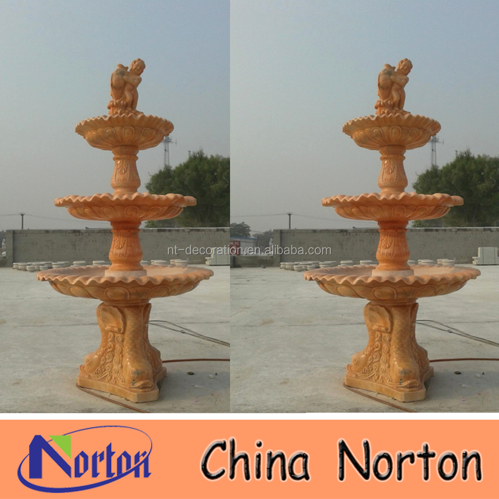 outdoor marble fish tank fountain NTMF-S480S