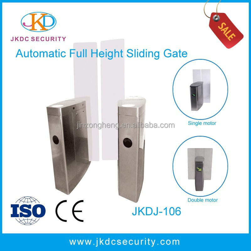 Security Access Control System Full Height Sliding Gate, Full Height Speed Gate with Alarm System
