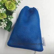 Blue Mesh Bags for Football, Drawstring Football Bags
