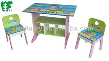 Children furniture wooden table and chair set