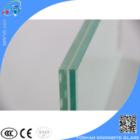 Safety large tempered Double glass window