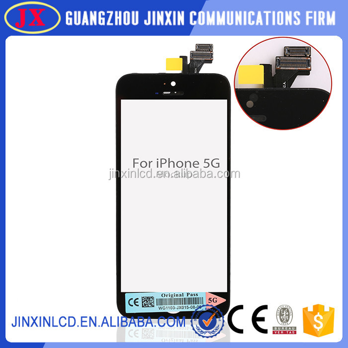 wholesale 2016 new item for iphone 5 color lcd screens and touch panel