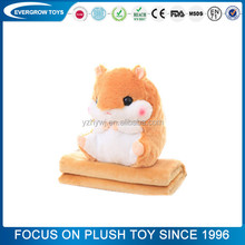 custom good quality 3 in 1pillow funny x hamster animals