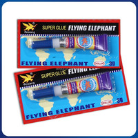 Flying Elephant Fast Drying Instant 3g Super Glue 502 In Aluminum Tubes