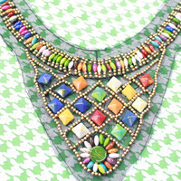 0915 Handmade Pendants Applique Crystal Glass