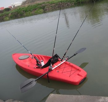 Plastic single type fishing kayak