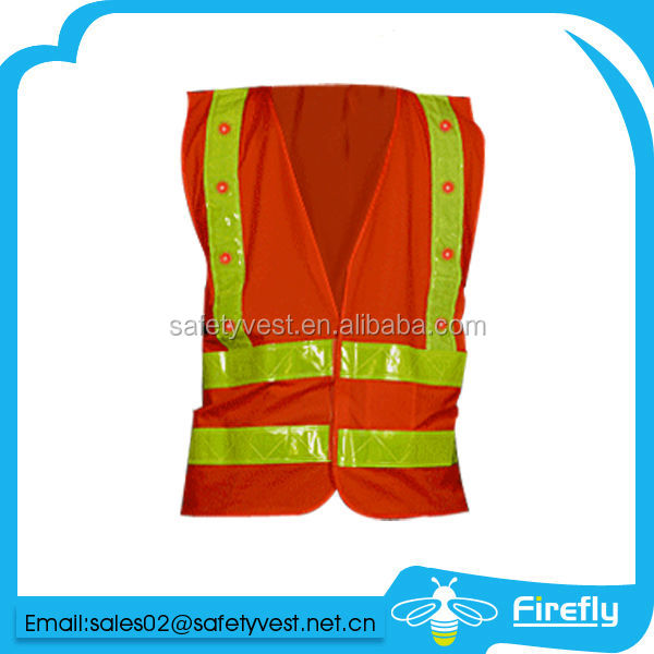 high visibility reflective waist safety belt with led
