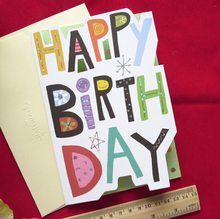 Custom Printed Two Fold Greeting Card Make 3D Birthday Card
