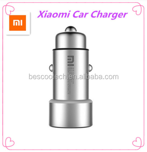 Original Xiaomi MI Car Charger Metal Appearance Dual USB Output Quick Charge + USB For Tablets ,mobile phone ,Mp3 ,etc