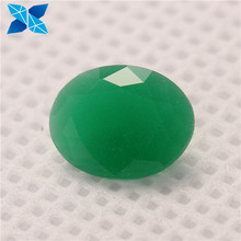 Customized gems price any size Emerald color oval cut glass stone emerald green jade stone glass