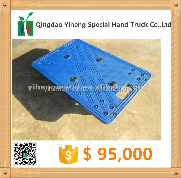 Customized Heavy Duty Plastic Four Wheel Moving Pallet Dolly