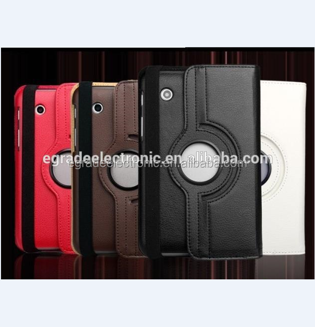 Wholesale!!360 Degree Rotary Leather Case Stand Case Cover Flip Leather Case for Samsung P3100