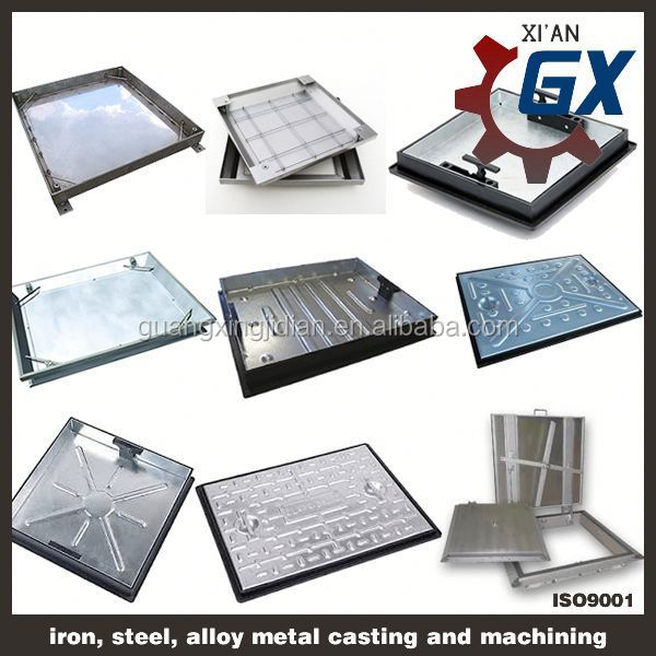 stainless steel galvanized square manhole covers