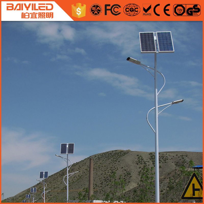 Top products Energy Saving solar ip camera with led street light