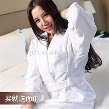 100% cotton white color hotel bathrobe, The kimono collar bathrobe wholesale
