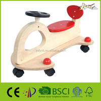 Unpolished Free Wheels Wood Ride on Car for Baby Walker Ride Wooden Toys