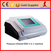 Alternate compression therapy ems muscle stimulation+far infrared pressotherapy machine