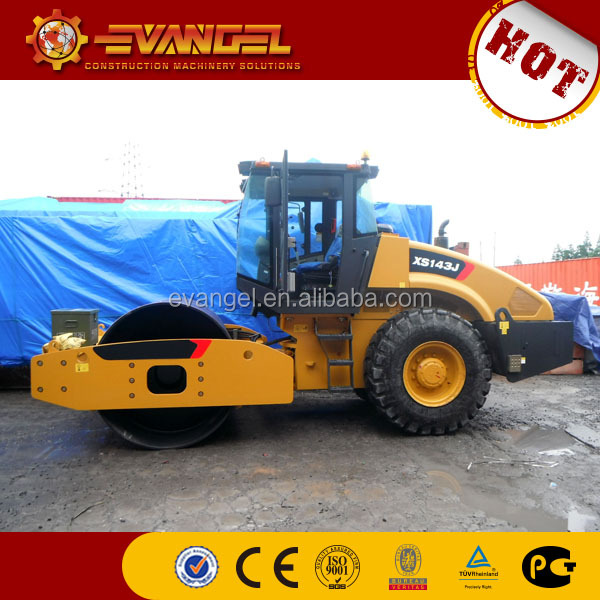 XCMG single drum roller 14 tons vibratory road roller XS143J